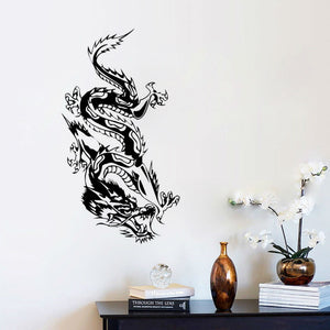 Oriental Dragon Wall Sticker Loong Wall Decal - HyperbrainStudios.com