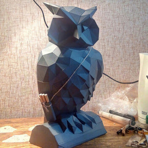 DIY Home Decoration Cute Owl Paper Model Puzzle Toy Animal for Restaurants Store Bar Waterproof Educational Folding Model Toy - HyperbrainStudios.com