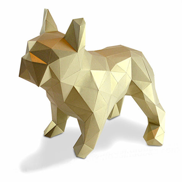 DIY Home Decoration Cute Bulldog Folding Paper Model Puzzle - HyperbrainStudios.com