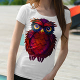 Vector geometry design Owl fashion T Shirt - HyperbrainStudios.com