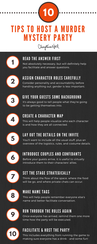 Tips for Hosting a Murder Mystery Party