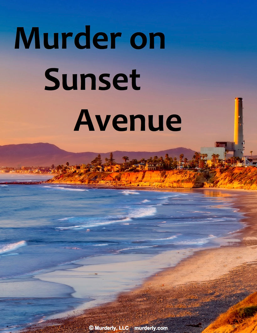 Murder on Sunset Avenue - Murderly