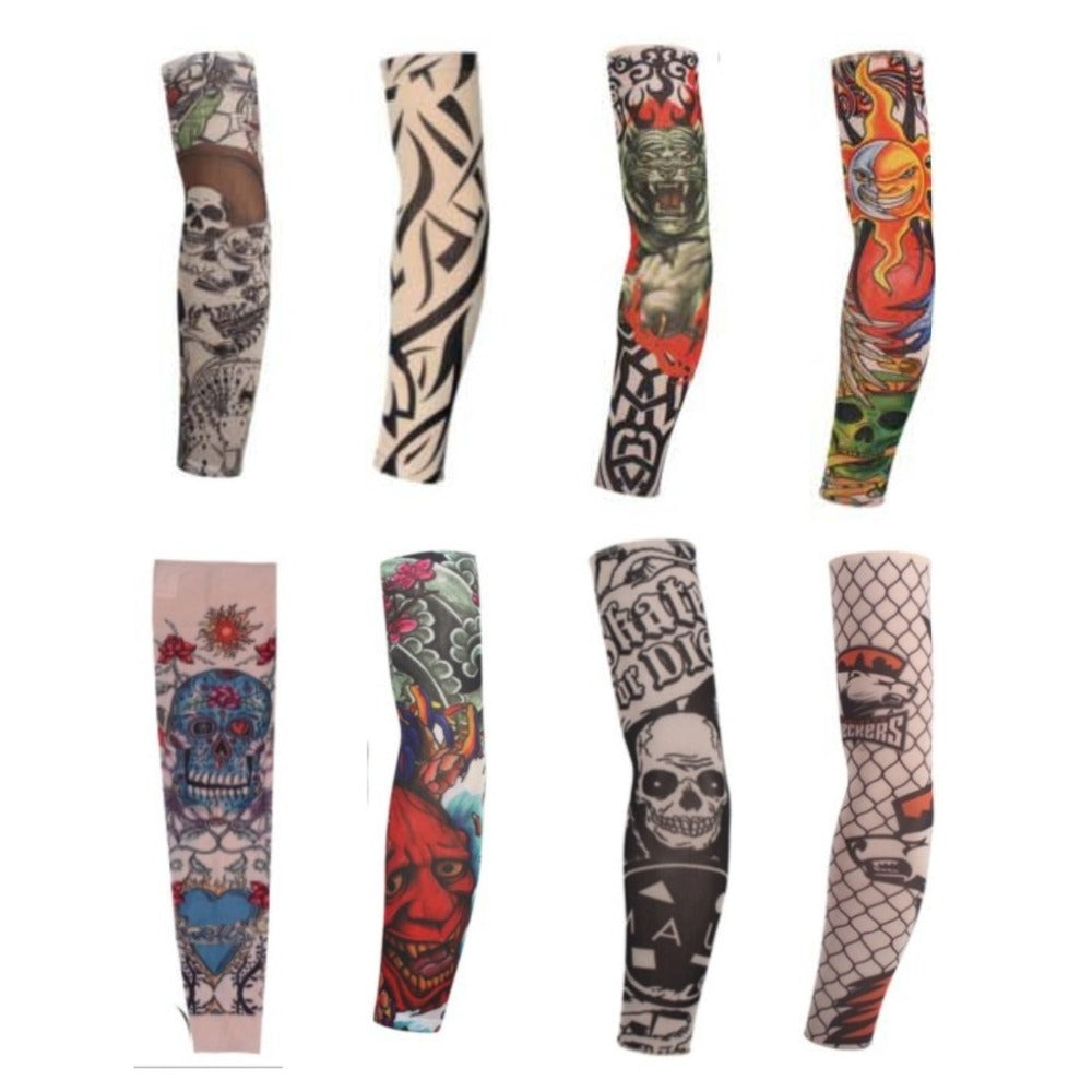Faux Tattoo Sleeve (8 pieces) -