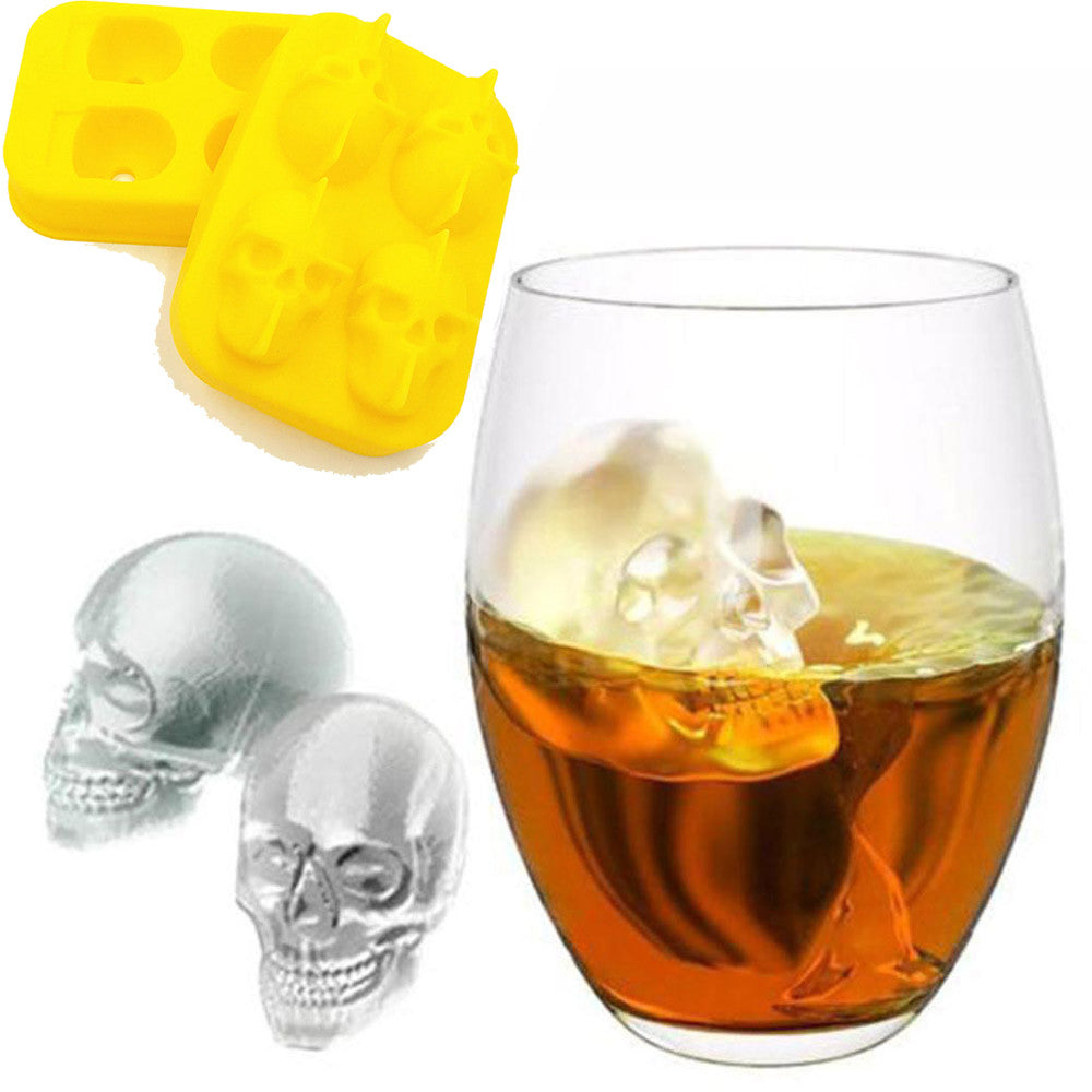 3D Skull Ice Cube Mold Maker -