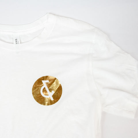 White and Gold Tee