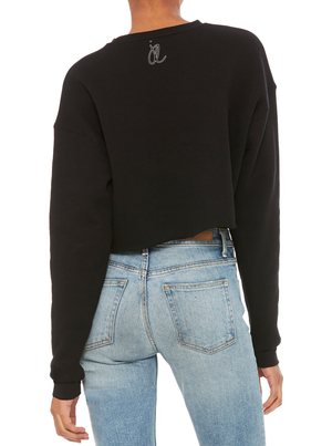 EXPECTATIONS Women's Cropped Fleece Crew