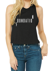 FOUNDATION Women's Racerback Cropped Tank