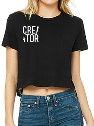CREATOR Women's Short Sleeve Crop Tee