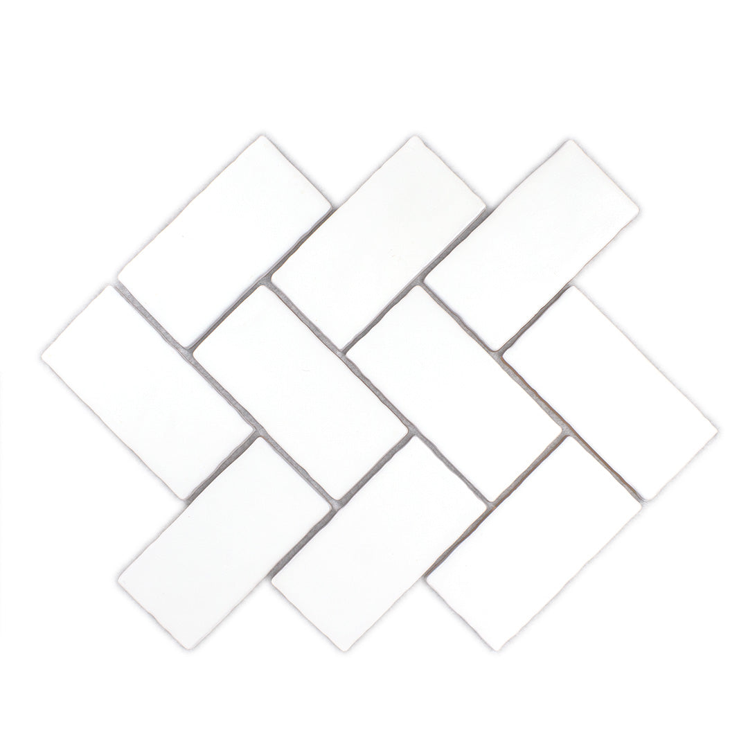 Dipped White Matte modern matte ceramic subway & candlestick tile for residential and commercial kitchen backsplash imported from Spain, Cevica Antic White Mate available from TilesInspired Canada's Online Tile Store delivering across Ontario and Quebec, including Toronto, Montreal, Ottawa, London, Windsor, Kitchener, Muskoka, Barrie, Kingston, Hamilton, and Niagara decoration idea