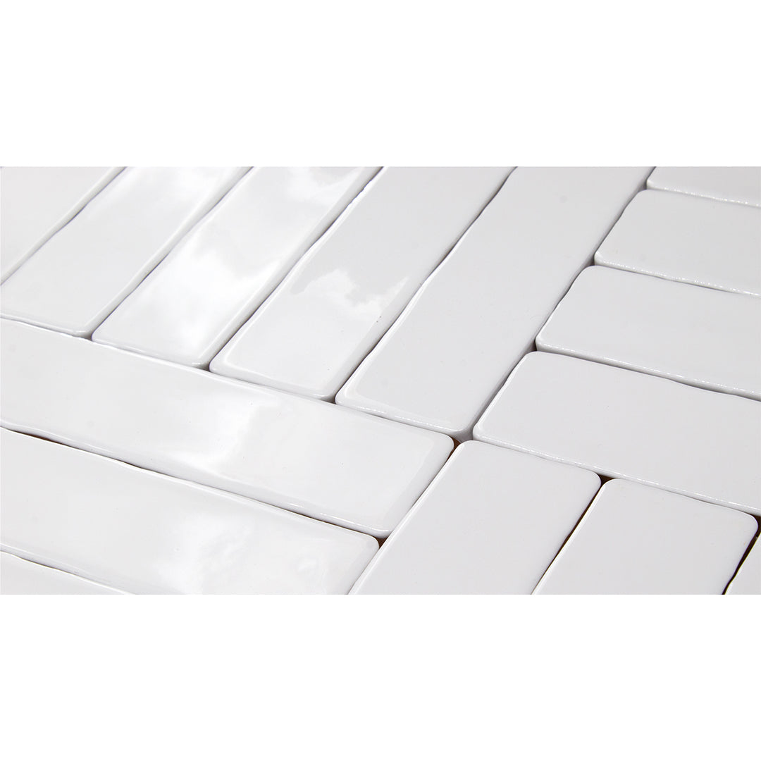 Single featured tile image of Candlestick White a 10 by 2 Ceramic tile for Residential & Commercial Walls made by European Decorative Tile Brand Cevica from Castellon de la Plana Spain