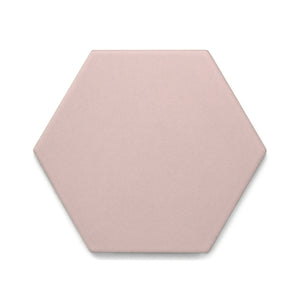 Single featured tile image of Good Vibes Blush a 5.6 by 6.4 Porcelain tile for Residential Floors made by European Decorative Tile Brand Cevica from Castellon de la Plana Spain