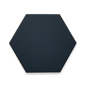 Single featured tile image of Good Vibes Midnight Blue a 5.6 by 6.4 Porcelain tile for Residential Floors made by European Decorative Tile Brand Cevica from Castellon de la Plana Spain