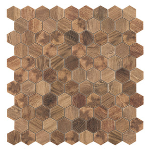 Honeycomb Hex Brown modern glossy glass hexagon tile for residential and commercial bathroom and kitchen wall imported from Spain, Vidrepur ROYAL LIGHT HEX available from TilesInspired Canada's Online Tile Store delivering across Ontario and Quebec, including Toronto, Montreal, Ottawa, London, Windsor, Kitchener, Muskoka, Barrie, Kingston, Hamilton, and Niagara decoration idea