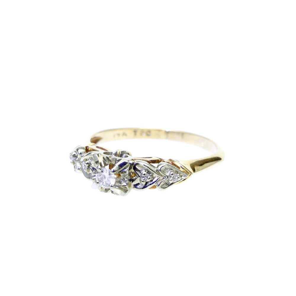 Load image into Gallery viewer, 14K Two Tone Diamond Ring