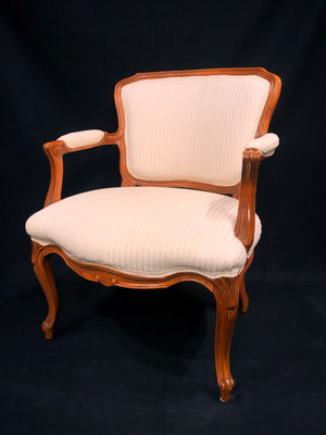 Load image into Gallery viewer, Pair of Ivory Upholstered Arm Chairs