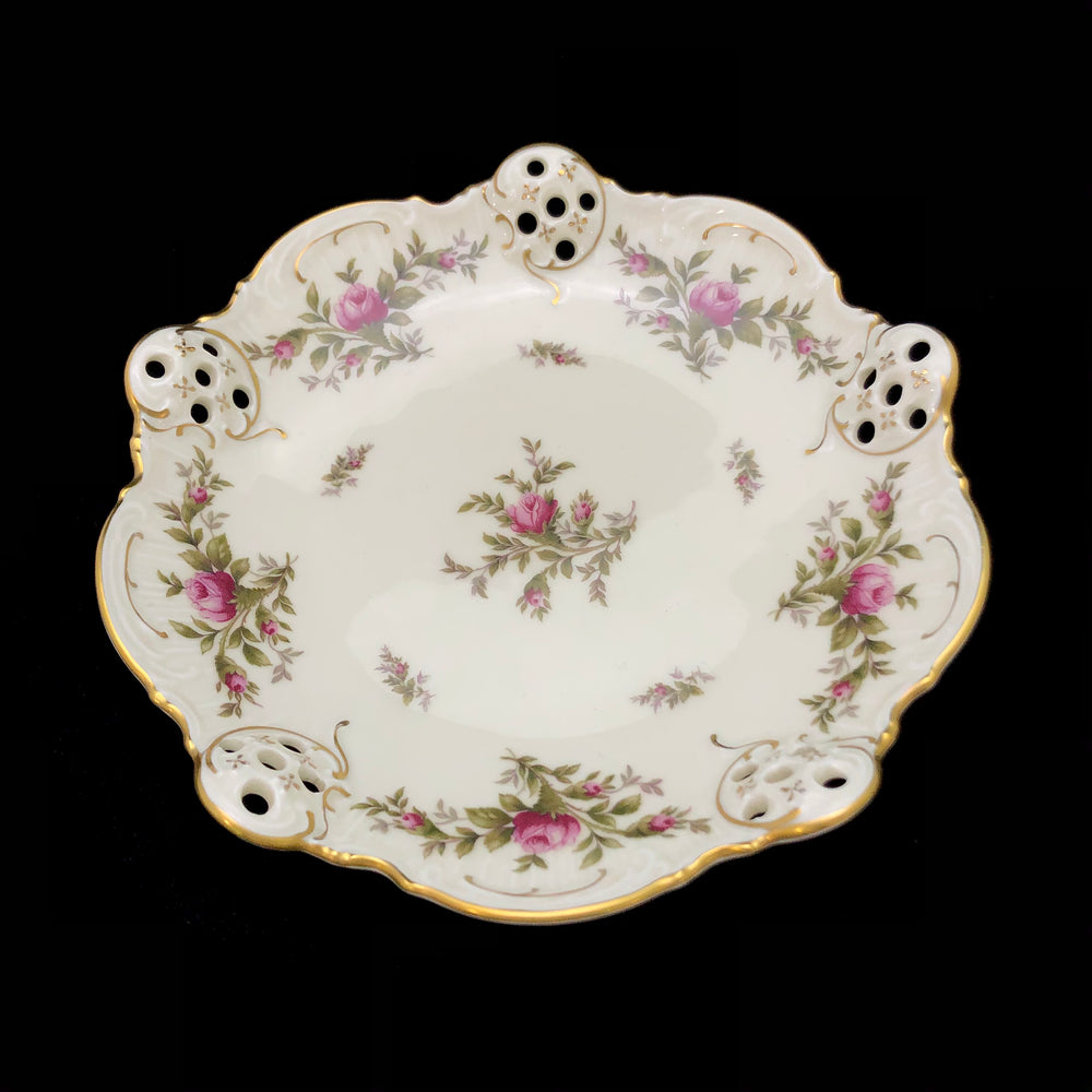 ROSENTHAL Sanssouci Ivory Moosrose Footed Moliere Bowl