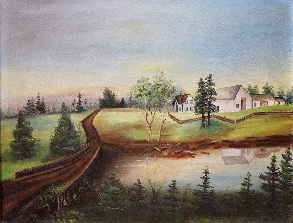 Phillips Log River- Oil on Canvas