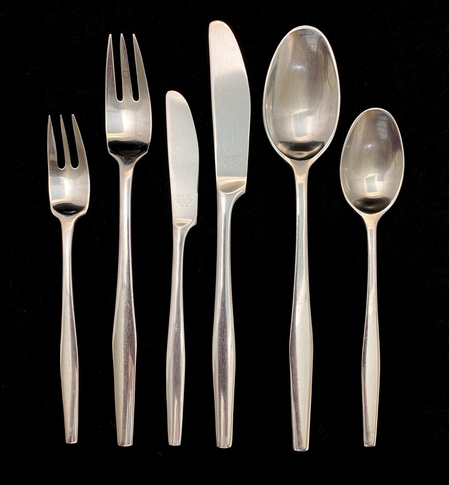 DANSK Variation 5 Stainless Steel Flatware - 12 Place Settings +