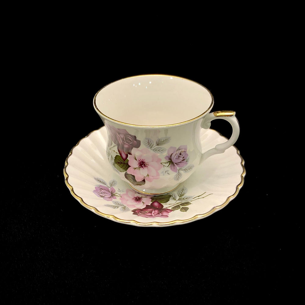OLD FOLEY Cup & Saucer - Roses