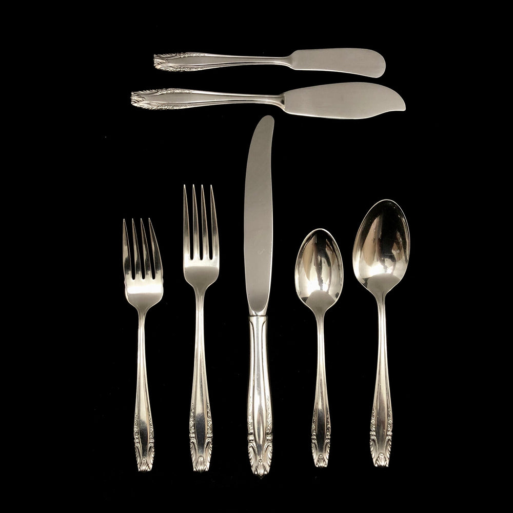 WALLACE Sterling Silver Stradivari Flatware - 5 Place Settings +
