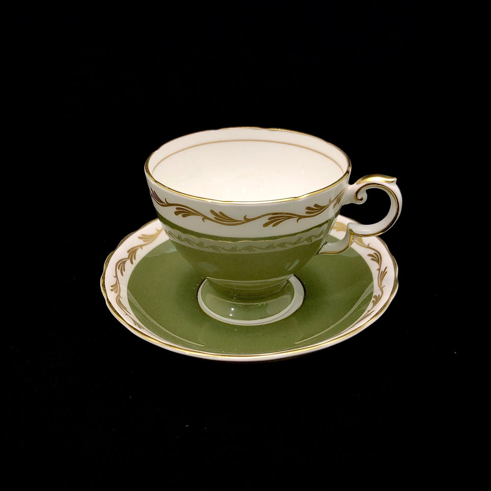 SUSIE COOPER Cup & Saucer - Olive Green