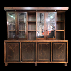 Cherry Cabinet with Hutch