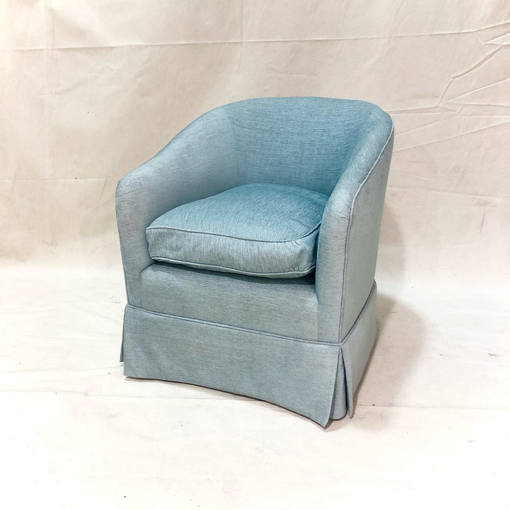 Blue Upholstered Tub Chair