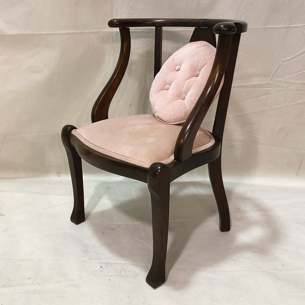 Upholsered Wood Arm Chair