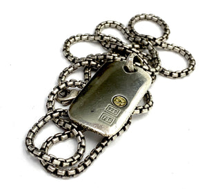 Load image into Gallery viewer, DAVID YURMAN Sterling Silver & 18K Alligator Dog Tag