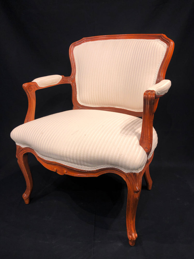 Pair of Ivory Upholstered Arm Chairs
