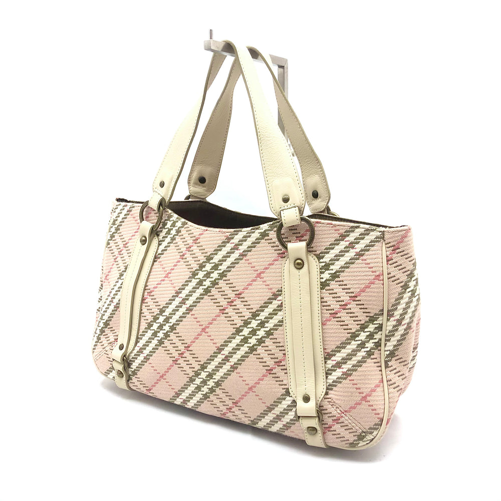 Load image into Gallery viewer, BURBERRY Tweed Nova Check Bag - Pink