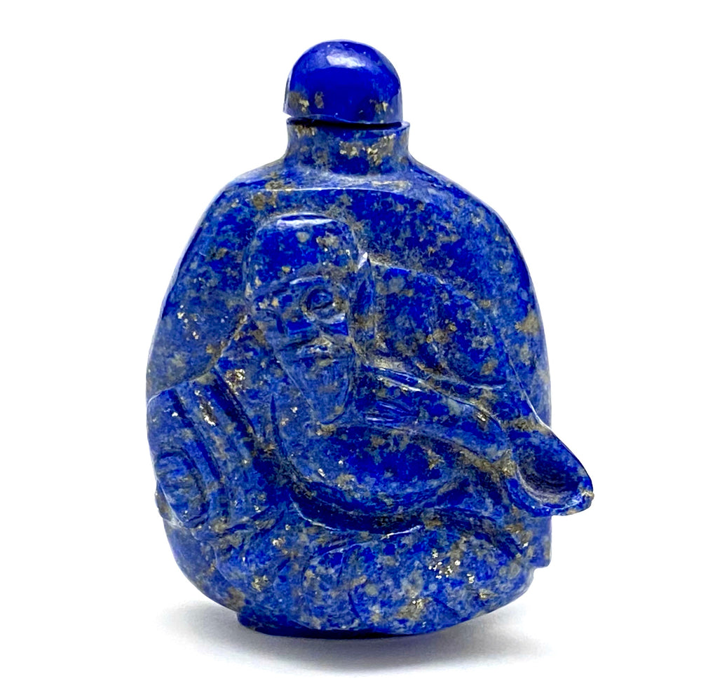 Carved Lapis Lazuli Snuff Bottle