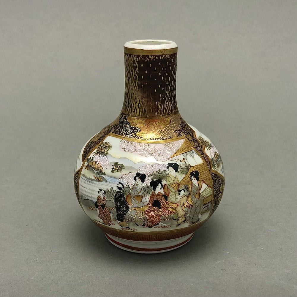 Asian Hand Painted Bud Vase