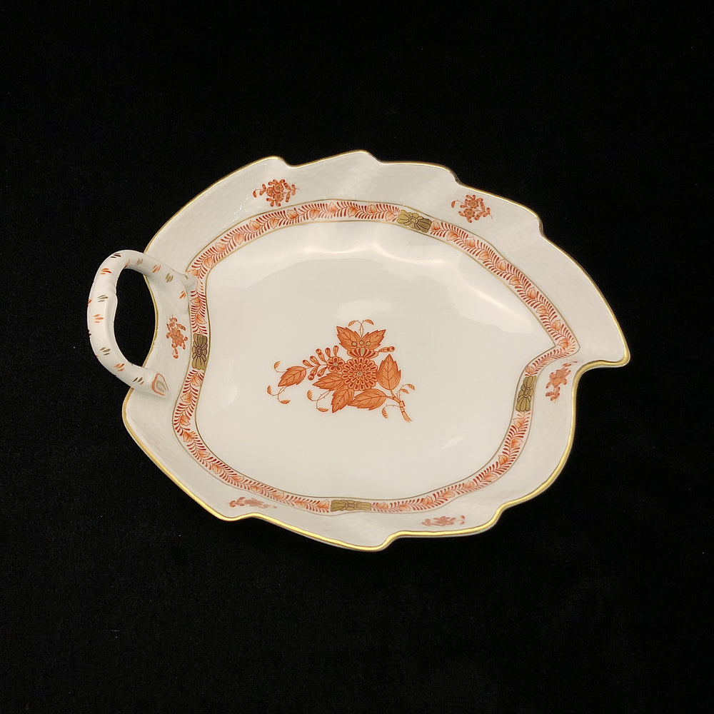 HEREND Chinese Bouquet Leaf Dish