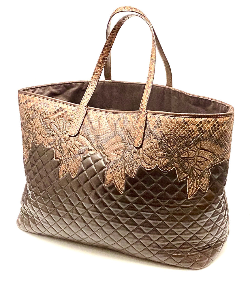 Load image into Gallery viewer, SILVANO BIAGINI Python & Lambskin Bag