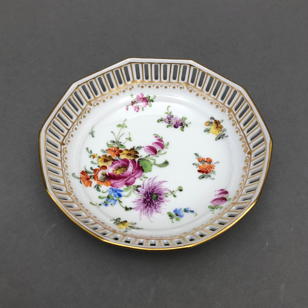 DRESDEN Hand Painted Pierced Bowl