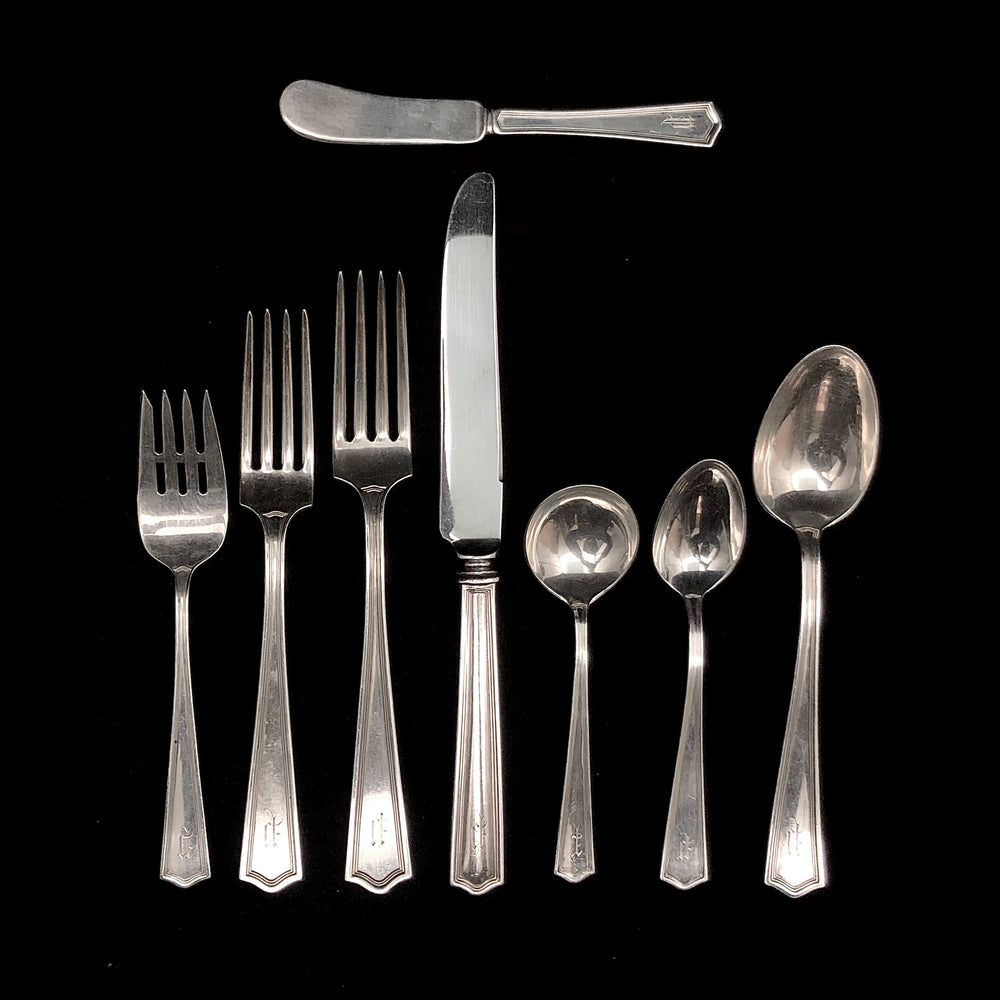 M.B. Co. Deerfield Sterling Silver Flatware -  95 Pieces