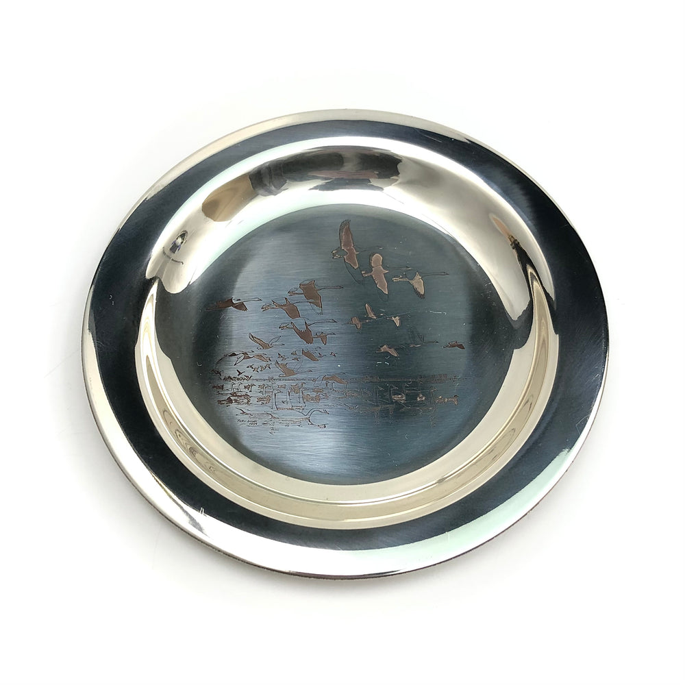 Peter Scott 1971 Sterling Silver Christmas Plate