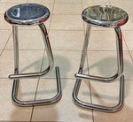 PAIR of Chrome Paperclip Stools