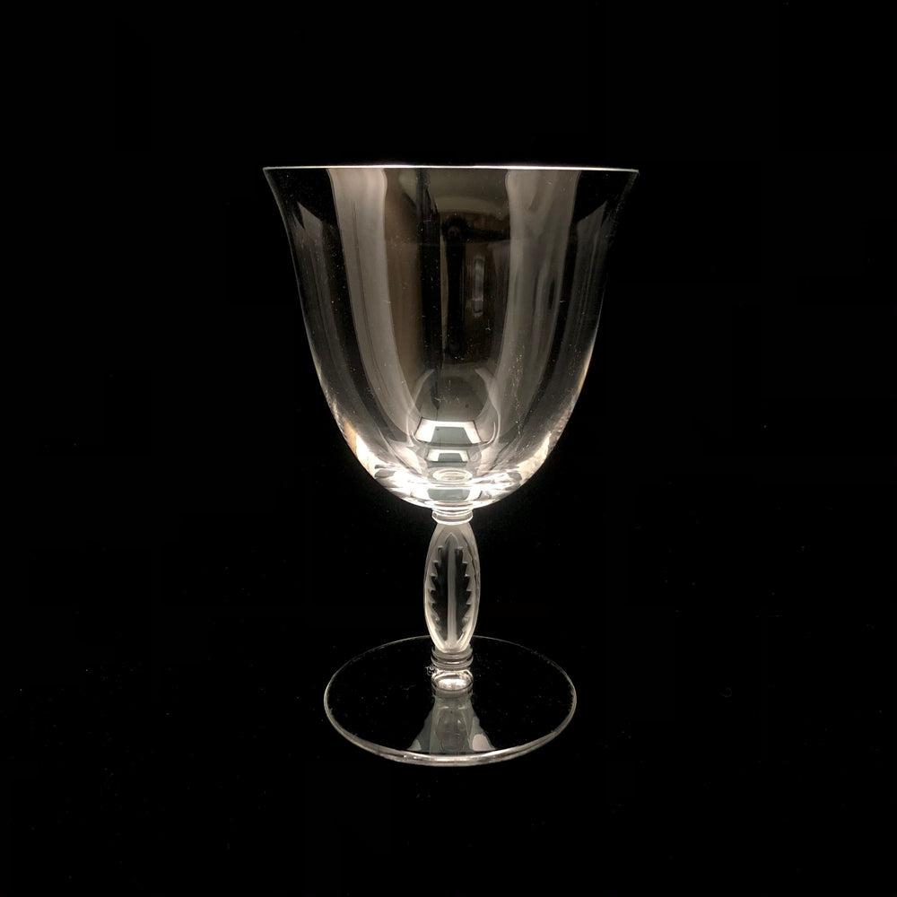 LALIQUE Fontainebleau Crystal Large Goblets - Set of 4