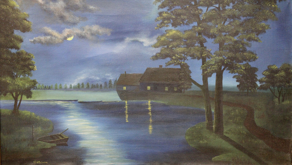 Phillips - Night Scene - Oil on Canvas