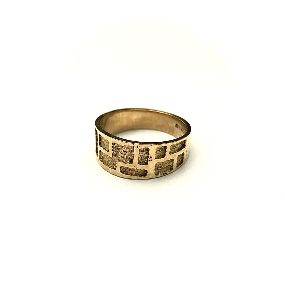 10K Brutalist Band Ring