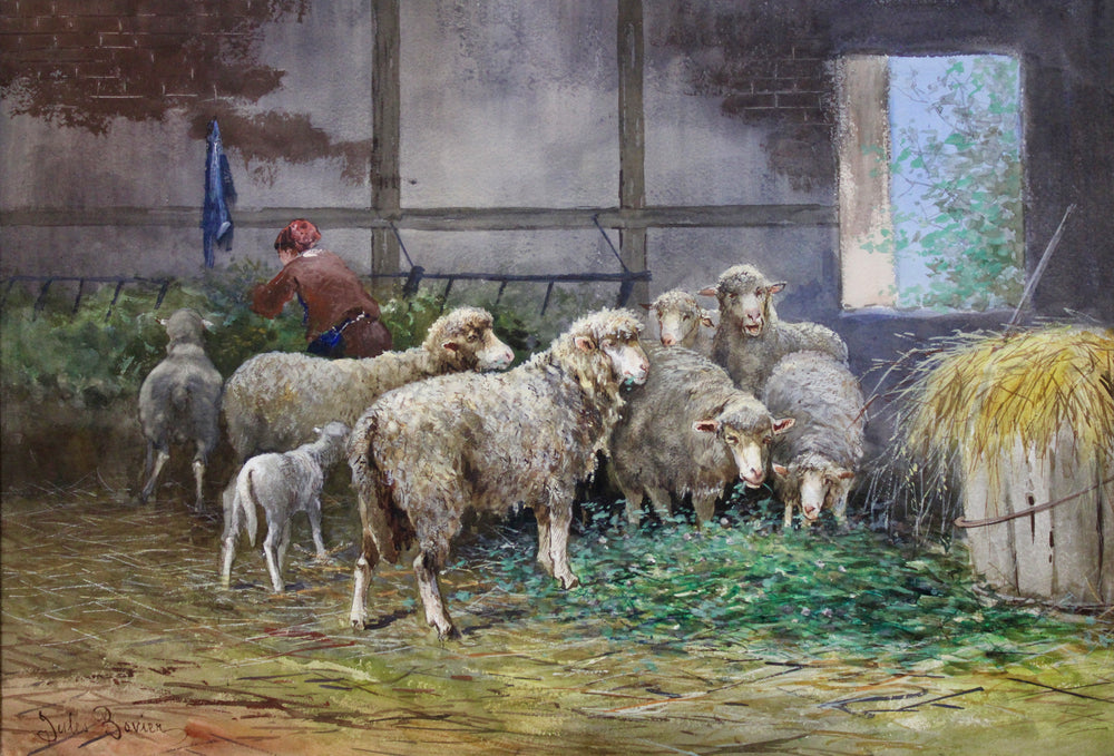 Load image into Gallery viewer, Jules Bovier - Sheep  - Gouache