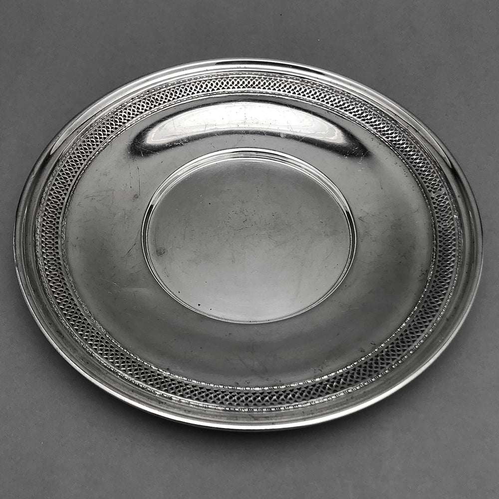 Sterling Silver Pierced Round Undertray