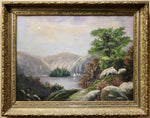 Unknown Artist -  Mountain Lake - Oil on Canvas