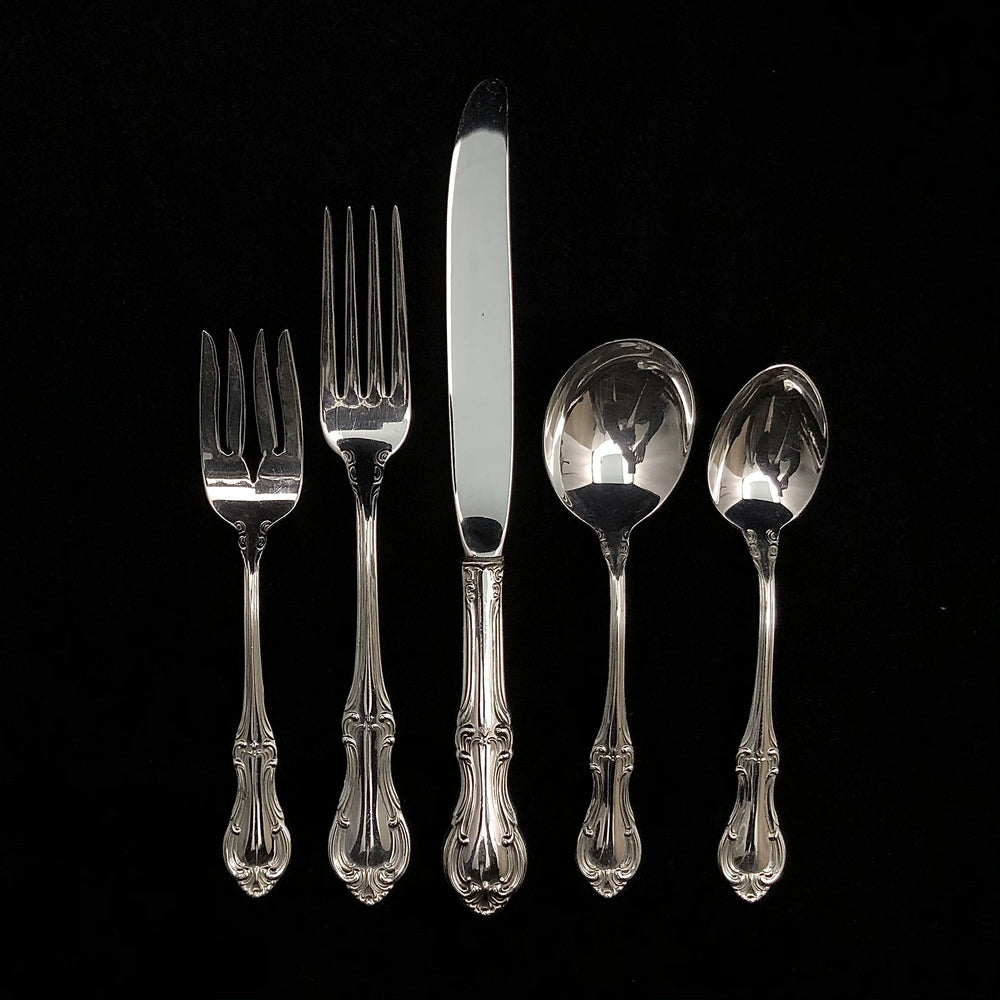 INTERNATIONAL Sterling Silver Joan Of Arc Flatware - 7 Place Settings +