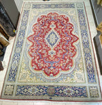 "Hand Knotted Kerman Wool Rug 13'1""x9'8"""