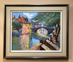 P Kardes - River Bridge - Oil on Canvas