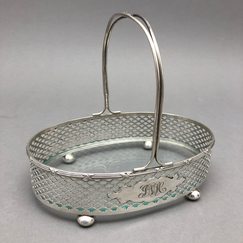 MERIDEN Sterling Silver & Glass Caddy