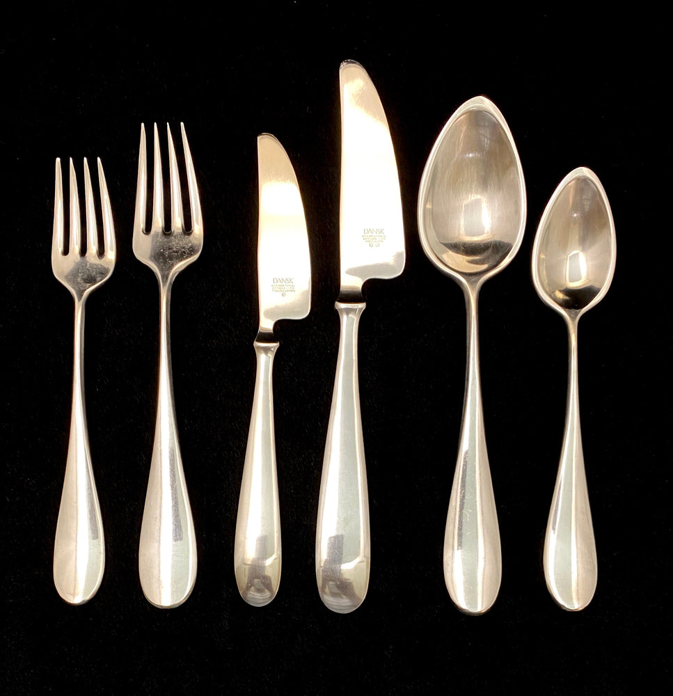 DANSK Classique Stainless Steel Flatware -  12 Place Settings +